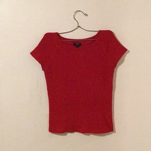 'Talbots' Juicy Red Woven Blouse